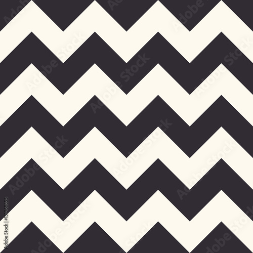 Fototapeta Fashion zigzag pattern, seamless vector background