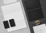 Corporate Identity. Branding Mock Up. Set of elements on a gray background. Blank objects for placing your design.