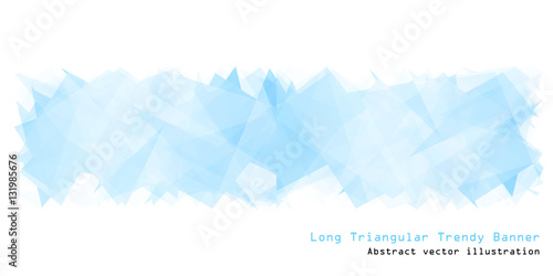 Long triangular trendy banner. Polygonal vector illustration - 131985676