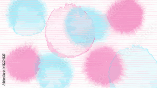 pink blue line abstract vector background , look like watercolor drop style - 132014827