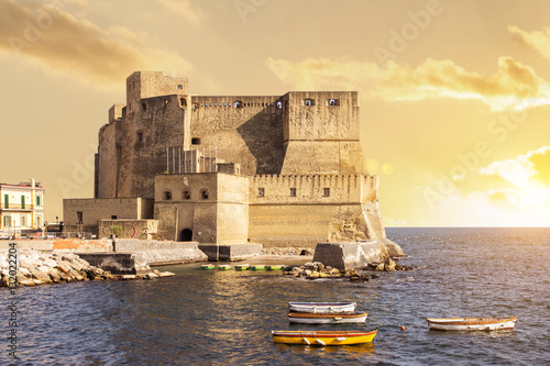 Aluminium Napels sunset in naples italy