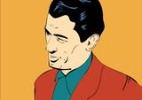 businessman comic book illustration