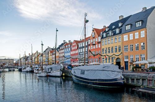 Poster Straßen und Kanäle in Kopenhagen
