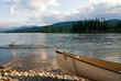 Canoe on Yukon river in Canada