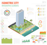 Isometric city map elements_13