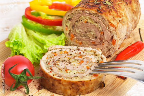 Poster Meatloaf with vegetables