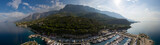Sailing Makarska Korcula Croatia Aerial Drone Photo