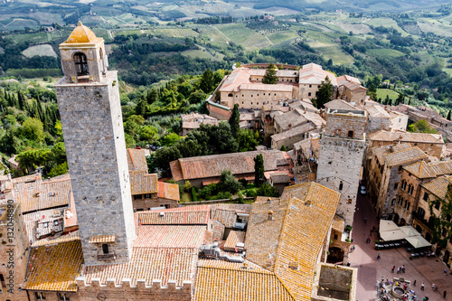 Poster San Gimignano is a medieval town in Tuscany