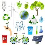 Green Energy Sign Set