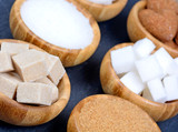 Sugar in a bowls on slate