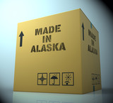 Made In Alaska Representing Alaskan Product 3d Rendering