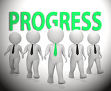 Progress Businessmen Showing Improvement Growth 3d Rendering