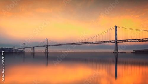 Obraz na Plexi The Bay Bridge, San Francisco, Californa, USA