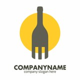 Wine Bottle logo icon vector template