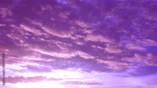 Silhouette sunrise sky pink with magenta and cloud