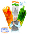 Detaily fotografie India tricolor flag background with proud Indian people