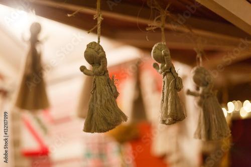 Zdjęcia Christmas decorations and rope retro Ukraine