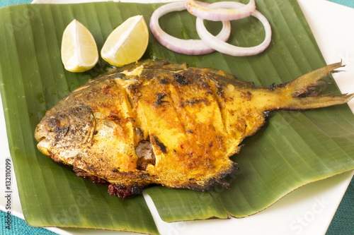 Pomfret Rechado is a Goan speciality – pomfrets marinated in a spicy masala and shallow fried Poster