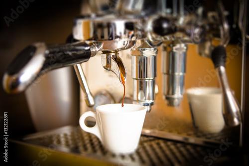 Poster Espressozubereitung
