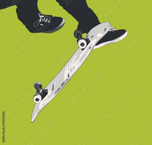 Fotobehang Skateboard skateboard - 360 Kick Flip / Tre Flip