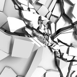abstract broken cracked white wall background