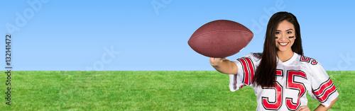 Female Football Fan