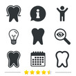 Постер, плакат: Tooth enamel protection icons Dental care signs