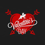 Valentines Day Heart And Arrows Background