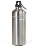 Reusable metal water bottle, isolated