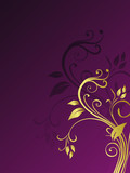 Western Golden Floral Background Template