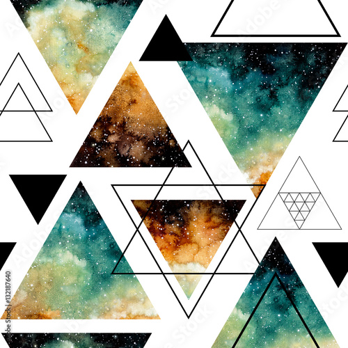 Seamless Pattern of Starry Sky in Triangles
