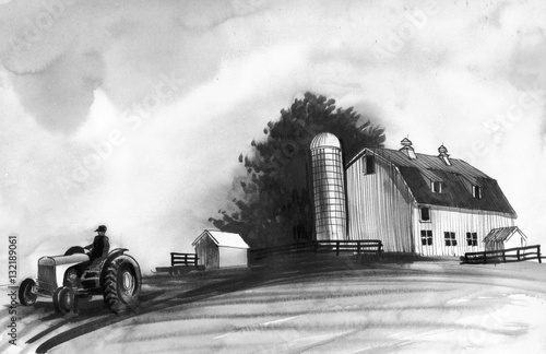 Plagát Farm sketch