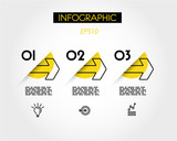 yellow linear infographic outline arrows