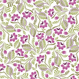 Seamless background with flowers and leaves in the folk style. Use for wallpaper, printing on the packaging paper, textiles.
