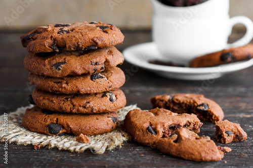 Poster Traditional double chocolate chip cookie