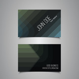 Business or Gift Card with Abstract Striped Pattern