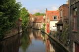 Kanal in der Altstadt von Brügge (Belgien)