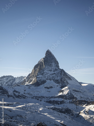Poster Special winter wallpaper, Snowy matterhorn peak