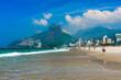Quadro Ipanema and Leblon beach and mountain Dois Irmao (Two Brother) in Rio de Janeiro, Brazil
