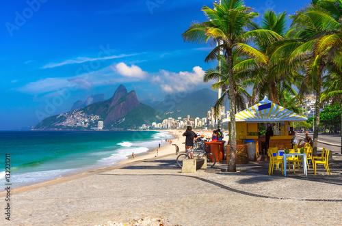 Ipanema beach in Rio de Janeiro. Brazil