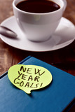 brekafast and text new year goals