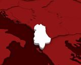 albania map 3D illustration