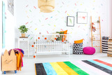 Baby bedroom in scandinavian style