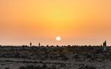 Atardecer y puesta de sol en El Cotillo, Fuerteventura, Islas Canarias