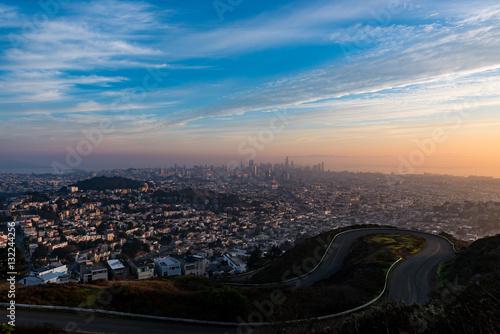 Poster Sunrise over San Francisco