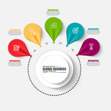 Infographic business number options vector