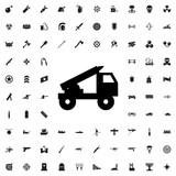 truck rocket icon icon illustration