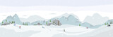 Ski resort. Winter panorama