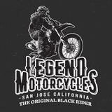 Fototapety Legend Motorcycles Vintage Racers T-Shirt Design