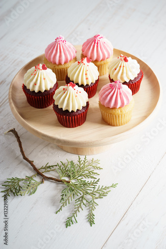 Poster colorful cupcakes